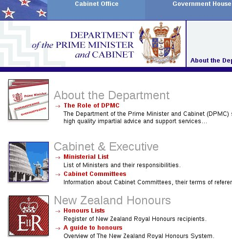 Government Web site in New Zealand