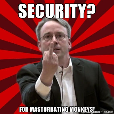 Torvalds on security