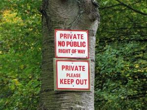 Private land
