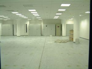 Empty servers room