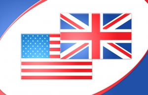 US-UK flag