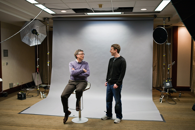 Bill Gates and Mark Zuckerberg