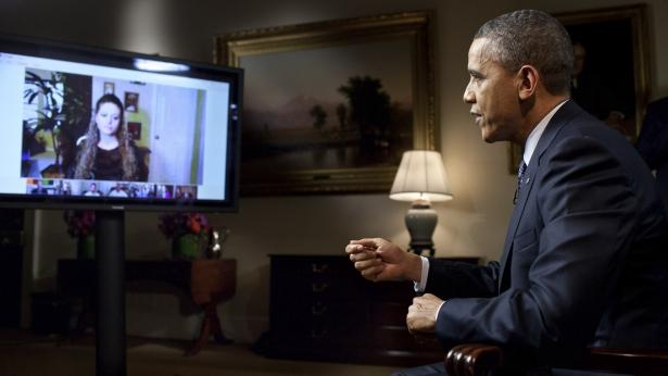 Obama at Hangout