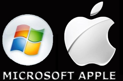 Microsoft and Apple trademarks