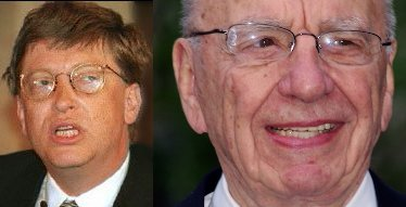 Rupert Murdoch with Bill Gates