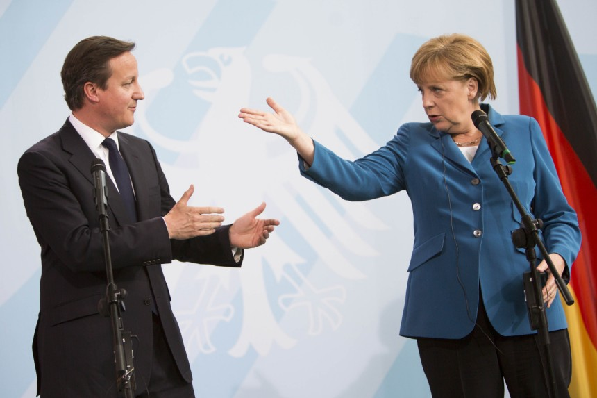 Merkel and Cameron