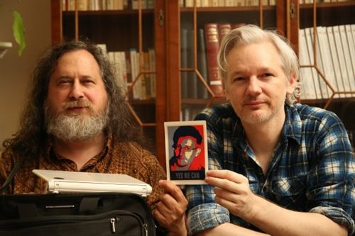 Julian Assange and Richard Stallman