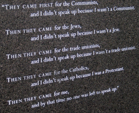 First they came...