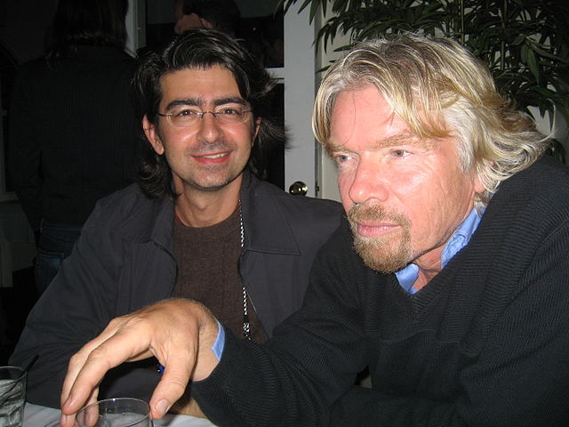 Pierre Omidyar and Richard Branson