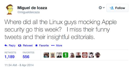 Miguel de Icaza tweet