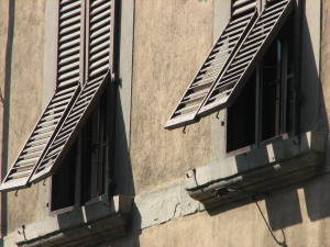 Windows with shutters