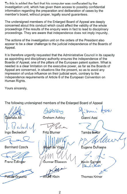 Exclusive the enlarged board of appeal complains about eboa letter regarding epo spiritdancerdesigns Images