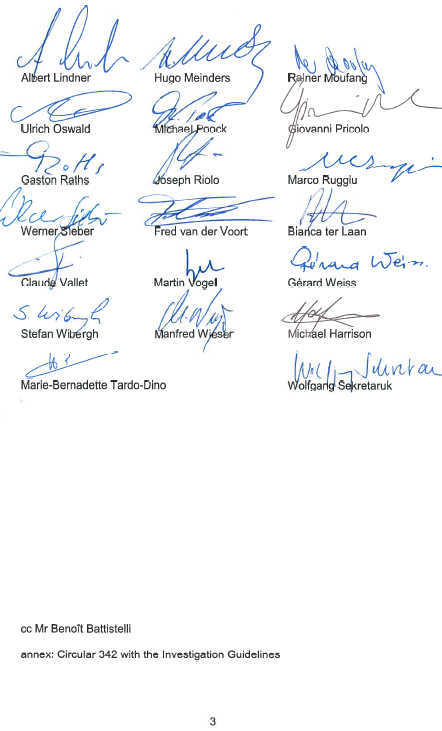 EBoA letter regarding EPO