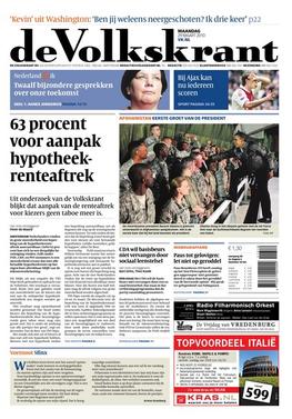 de Volkskrant front page