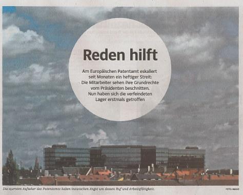 Süddeutsche Zeitung headline