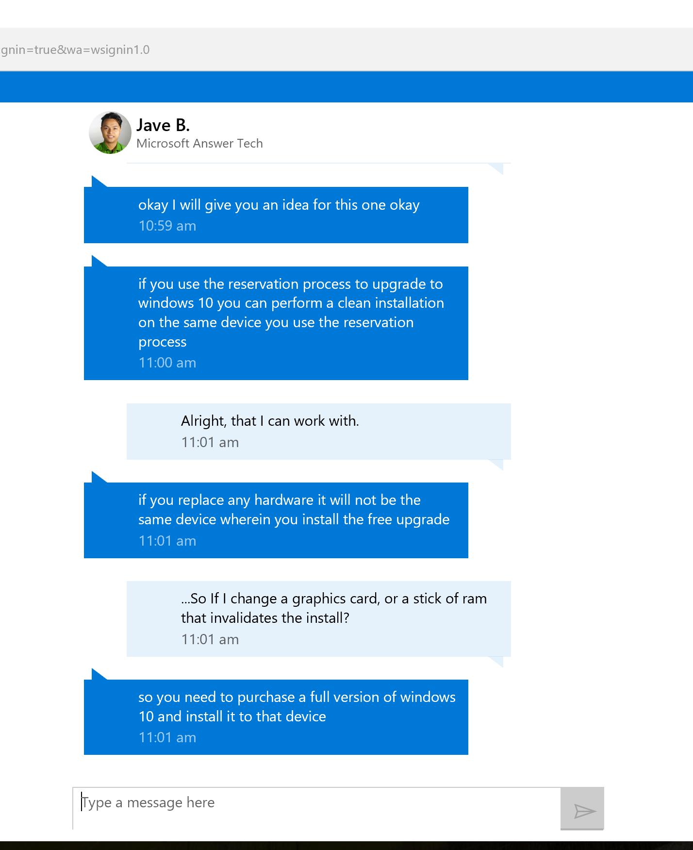 Microsoft answers