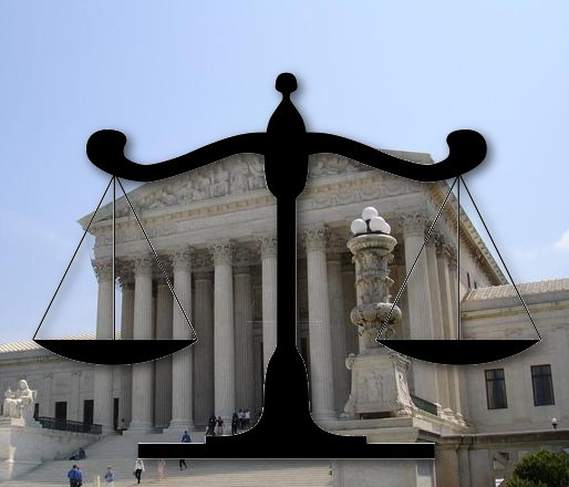 US Supreme Court and scales