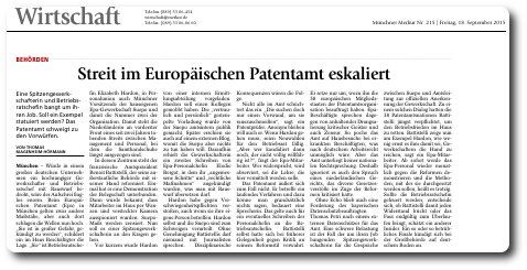 German paper on EPO