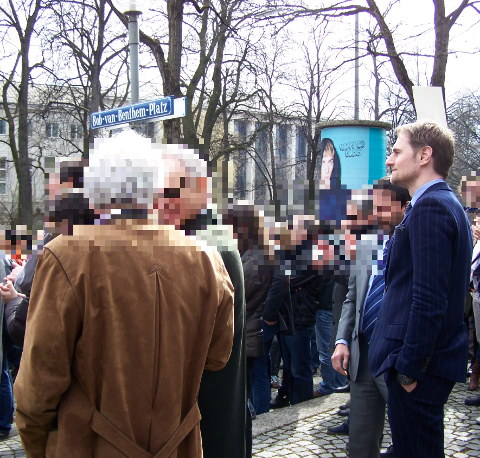 Sebastian Bauer in an EPO protest