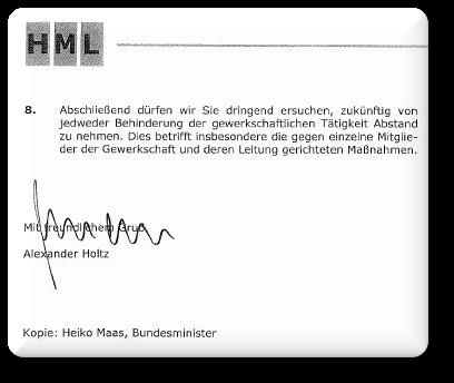 Holtz letter
