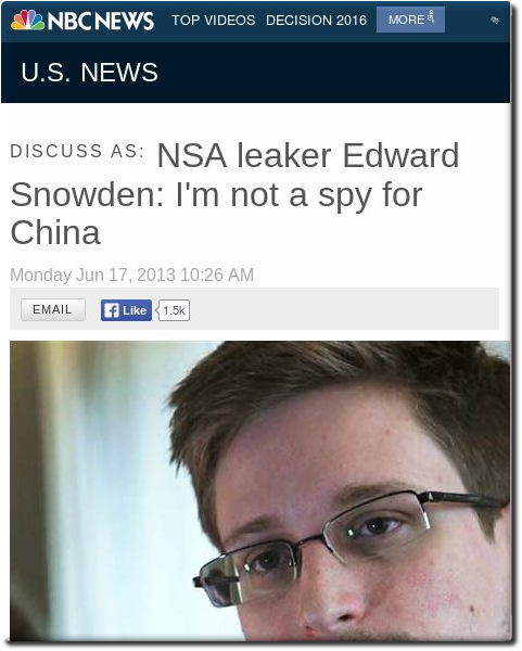Snowden and China