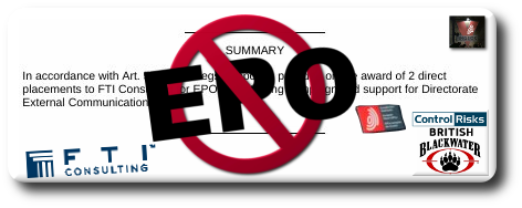 EPO Campaign to Deceive