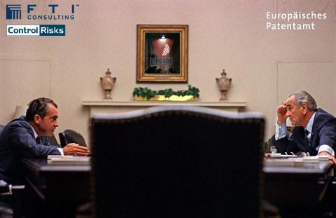 Lyndon Johnson and Richard Nixon