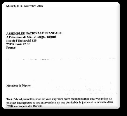Pierre-Yves Le Borgn' letter
