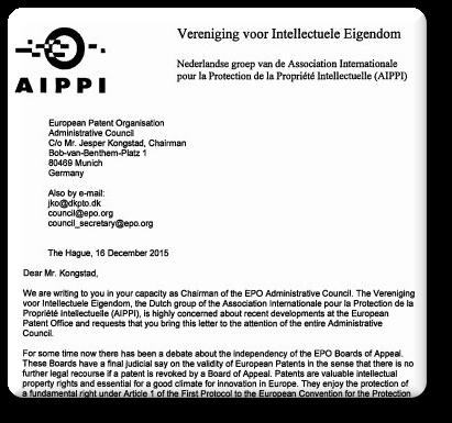 AIPPI letter