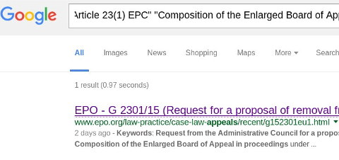 EPO on Google