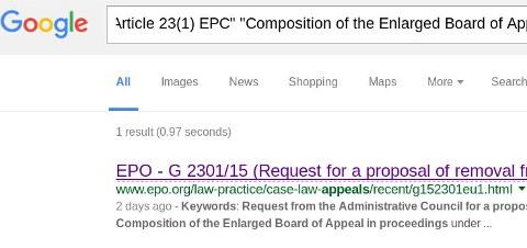 EPO on Google
