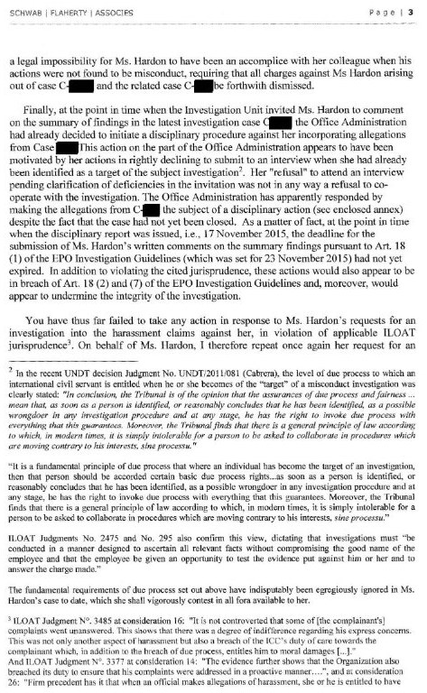 Letter from lawyers - page 3