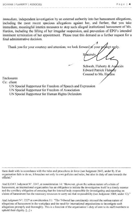Letter from lawyers - page 4