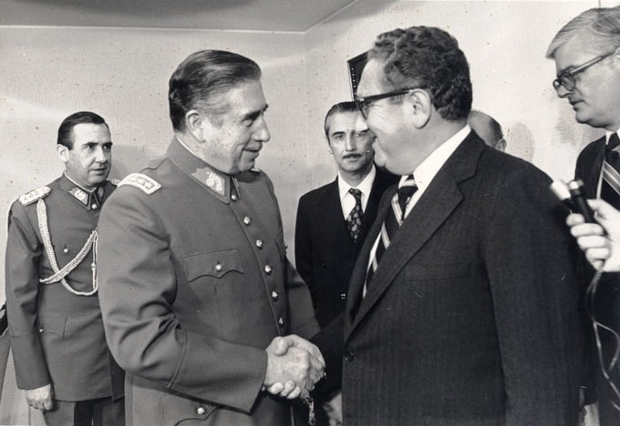 Reunión of Pinochet and Kissinger