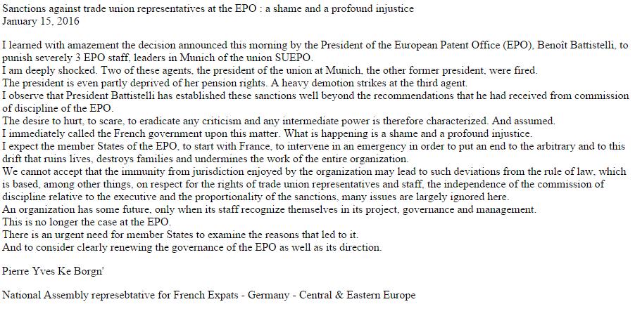 A response to EPO