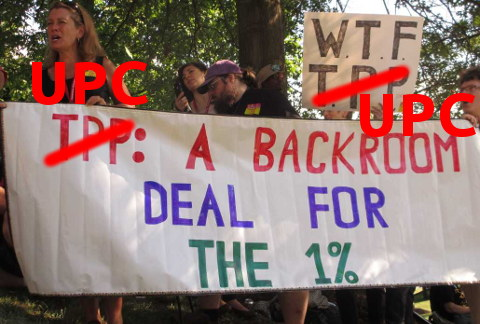 UPC protest