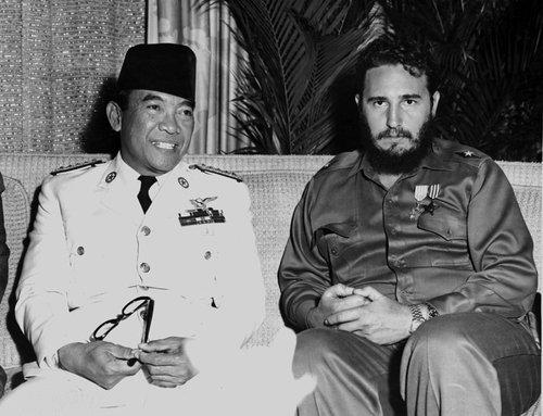 Fidel Castro y Sukarno