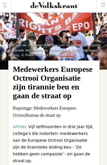 de Volkskrant article
