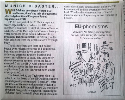 Private Eye on EPO