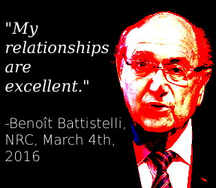 Benoît Battistelli: My relationships are excellent.