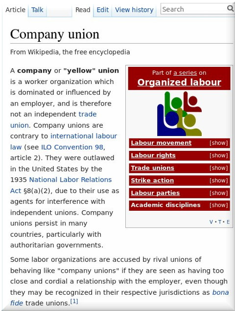 Yellow unions