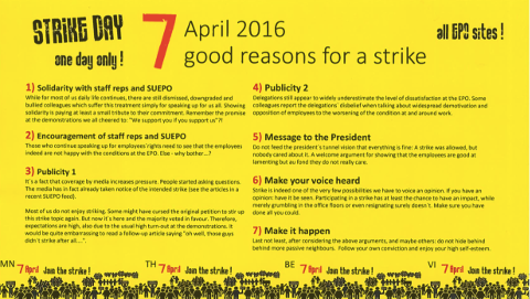 7 reasons to strike at the European Patent Office complete