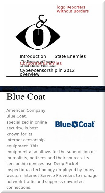 Reporters Without Borders on BlueCoat