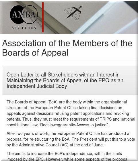 Association of the Members of the Boards of Appeal (AMBA)