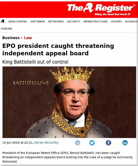 Battistelli versus EBoA