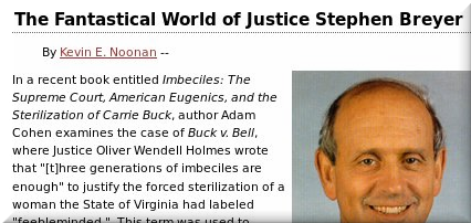 Justice Breyer ad hominem