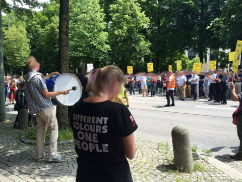 drums at EPO Protest in Munich