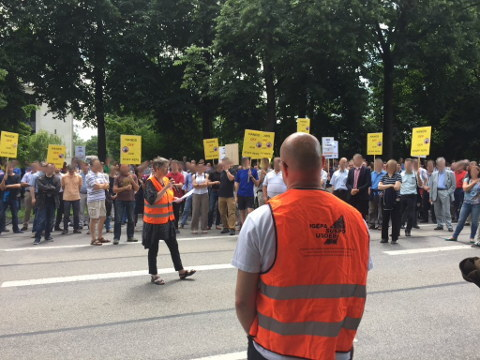 Hardon at EPO Protest in Munich
