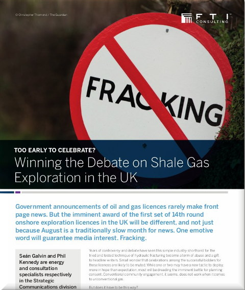 FTI Consulting for fracking