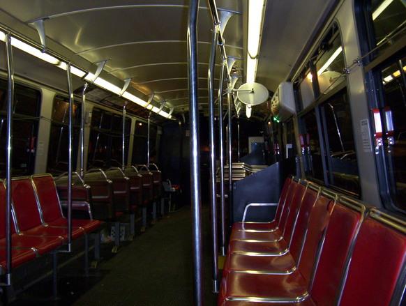 A transit bus